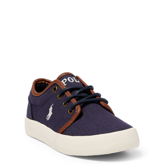 Polo Boy's Ethan Low Canvas Sneaker - Navy 990549C - ShoeShackOnline