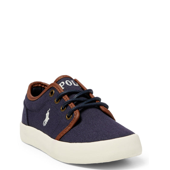 Polo Youth Ethan Low Canvas Sneaker - Navy 990549J