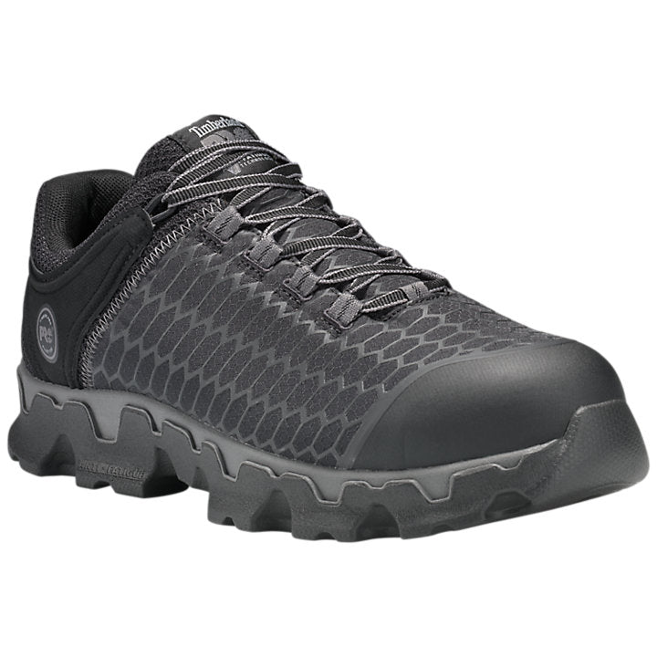 Timberland Men's Powertrain Sport Alloy Toe Work Shoe - Black A176A - ShoeShackOnline