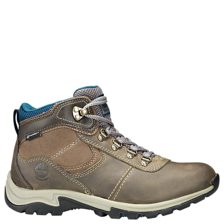 Timberland Women's Mt. Maddsen Mid Waterproof Hiking Boot - Gray/Brindle A1NRW - ShoeShackOnline