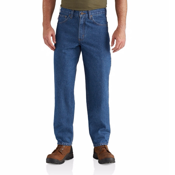 Carhartt Men's Relaxed-Fit Tapered-Leg Jean - Dark Stone B17 - ShoeShackOnline