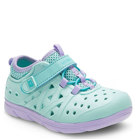 Stride Rite Kid's Made2Play Phibian Sneaker Sandal - Turquoise BG57422 - ShoeShackOnline