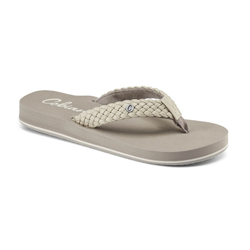 Cobian Women's Braided Bounce Flip Flops - Cream BRB10-110 - ShoeShackOnline