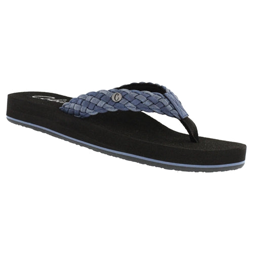 Cobian Women's Braided Bounce Flip Flops - Indigo BRB10-460 - ShoeShackOnline