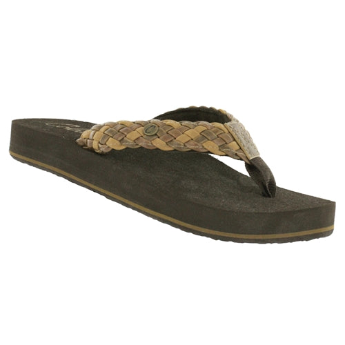 Cobian Women's Braided Bounce Flip Flops - Natural BRB10-965 - ShoeShackOnline