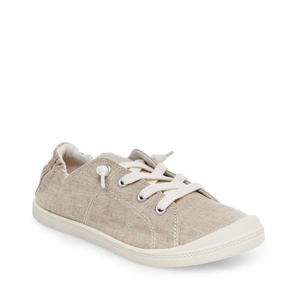 Madden Girl Women's Baailey Canvas Lace Up Sneaker - Tan - ShoeShackOnline