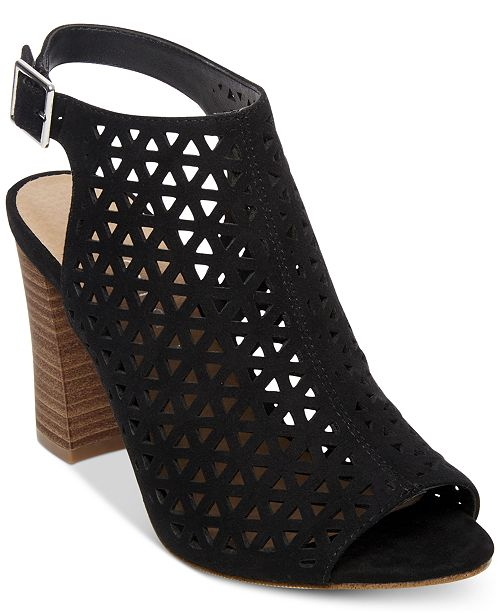 Madden Girl Women's Beverrly Laser Cut Dress Heel - Black BEVE01J1 - ShoeShackOnline