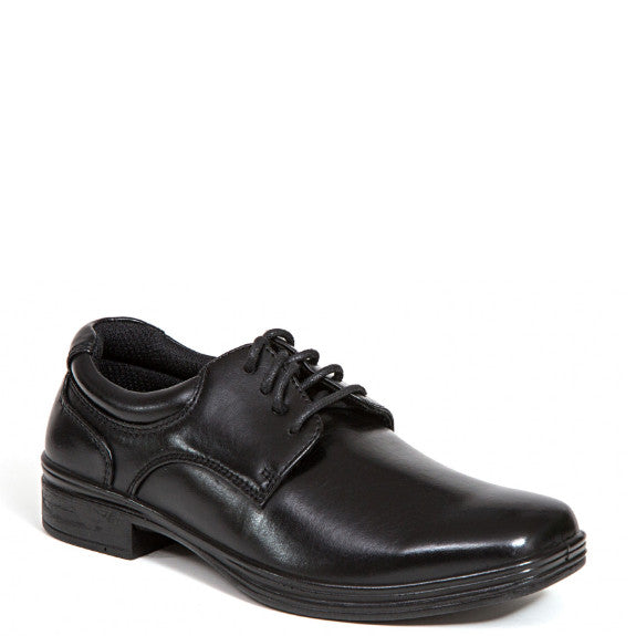 Deer Stags Boy's Blazing Dress Oxford - Black - ShoeShackOnline