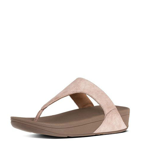 FitFlop Women's Shimmy Suede Toe-Thong Sandals - Rose Gold C64-323