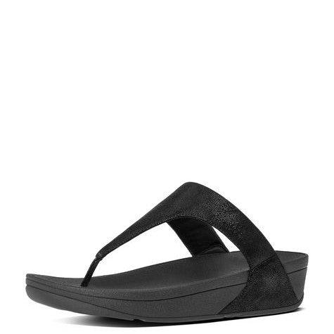 b6d9d9c57 FitFlop Women s Shimmy Suede Toe-Thong Sandals - Black Glimmer ...