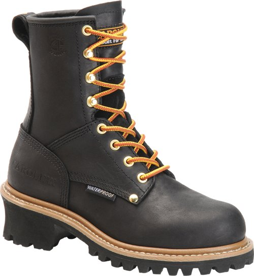 "Carolina Women's 8"" Waterproof Steel Toe Logger Boot - CA1420 - ShoeShackOnline"