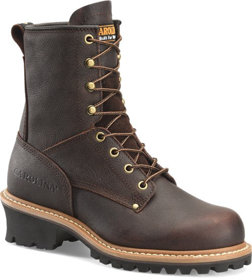 "Carolina Women's 8"" Steel Toe Logger Boot - CA1421 - ShoeShackOnline"