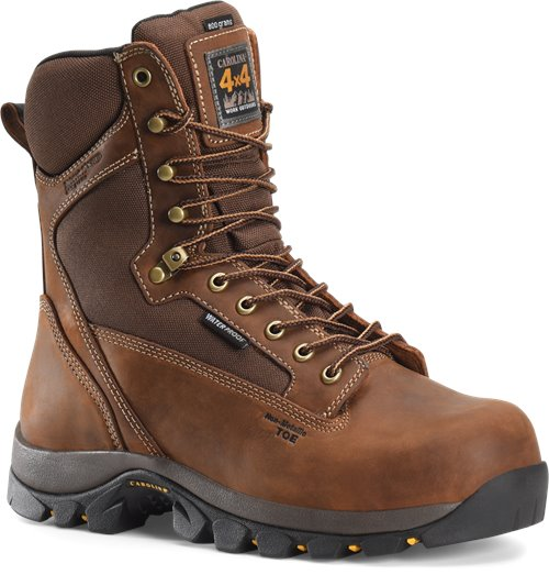 "Carolina Men's 8"" Waterproof Insulated Composite Toe 4x4 Work Boot - CA4515 - ShoeShackOnline"