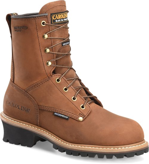 "Carolina Men's 8"" Waterproof Insulated Logger Boot - CA4821 - ShoeShackOnline"