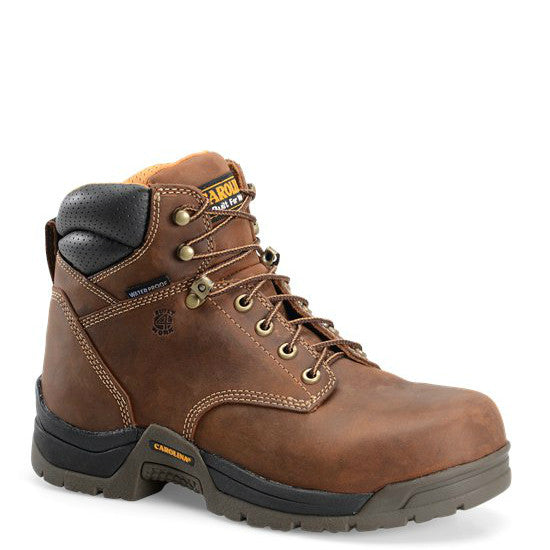 "Carolina Men's 6"" Waterproof Broad Composite Toe Work Boot - CA5520 - ShoeShackOnline"