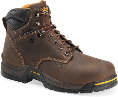"Carolina Men's 6"" Waterproof 400G Insulated Broad Composite Toe Work Boot - CA5521 - ShoeShackOnline"