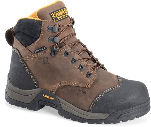 "Carolina Men's 6"" ESD Waterproof Carbon Composite Broad Toe Work Boot - CA5522 - ShoeShackOnline"