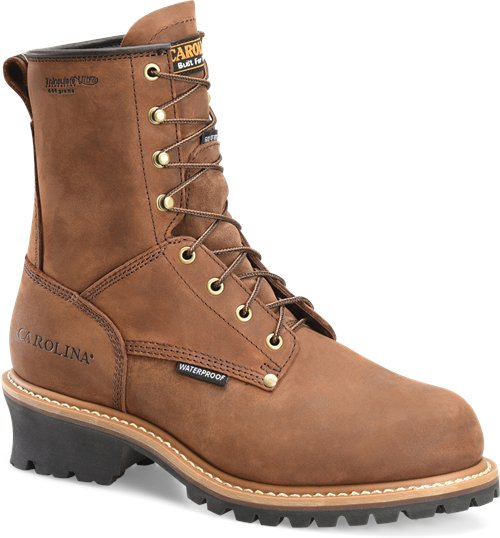 "Carolina Men's 8"" Steel Toe Waterproof Insulated Logger Boot - CA5821 - ShoeShackOnline"