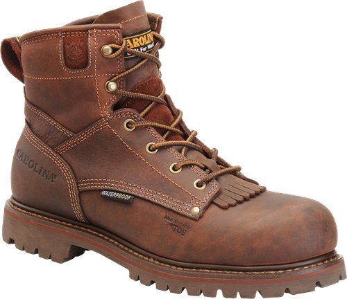 "Carolina Men's 6"" Waterproof Grizzly Work Boot - CA7028 - ShoeShackOnline"