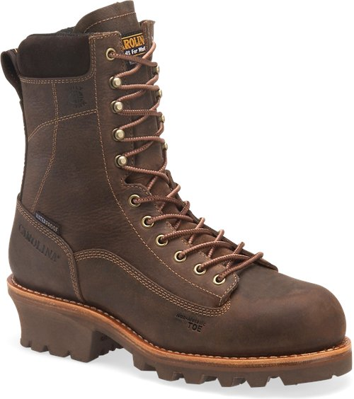 "Carolina Men's 8"" Waterproof Insulated Composite Toe Logger Boot - CA7521 - ShoeShackOnline"