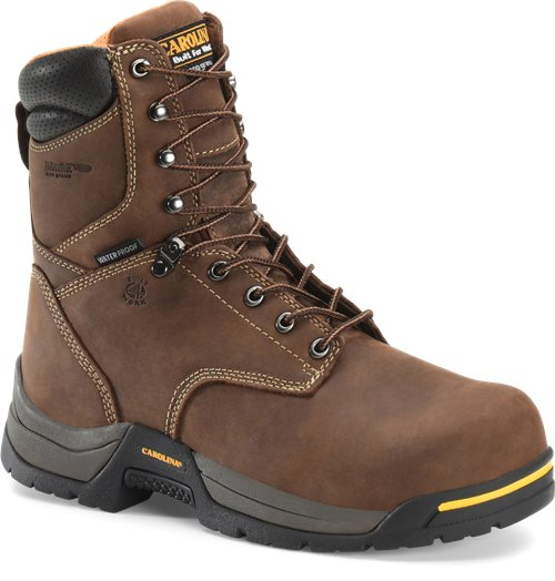 "Carolina Men's 8"" Waterproof Insulated Broad Toe Work Boot - CA8021 - ShoeShackOnline"