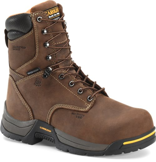 "Carolina Men's 8"" Waterproof Insulated Broad Composite Toe Work Boot - CA8521 - ShoeShackOnline"