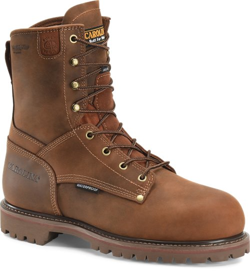 "Carolina Men's 8"" Waterproof 800G Insulated Grizzly Work Boot - CA9028 - ShoeShackOnline"