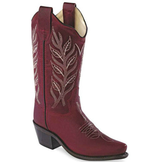 Old West Kid's Fashion Western Boots - Crimson CF8236