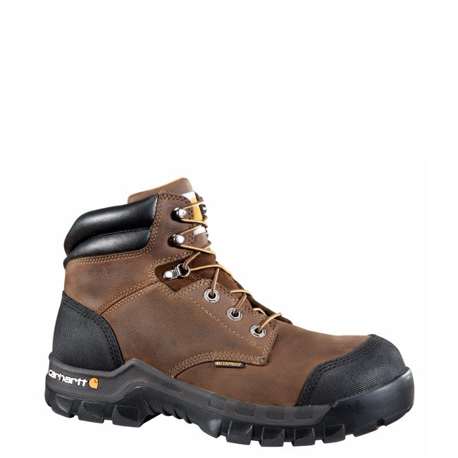 "Carhartt Men's 6"" Rugged Flex Work Boot - Dark Brown CMF6380 - ShoeShackOnline"