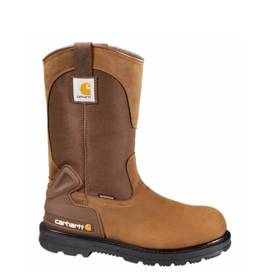 "Carhartt Men's 11"" Non-Safety Toe Wellington - Bison Brown CMP1100 - ShoeShackOnline"