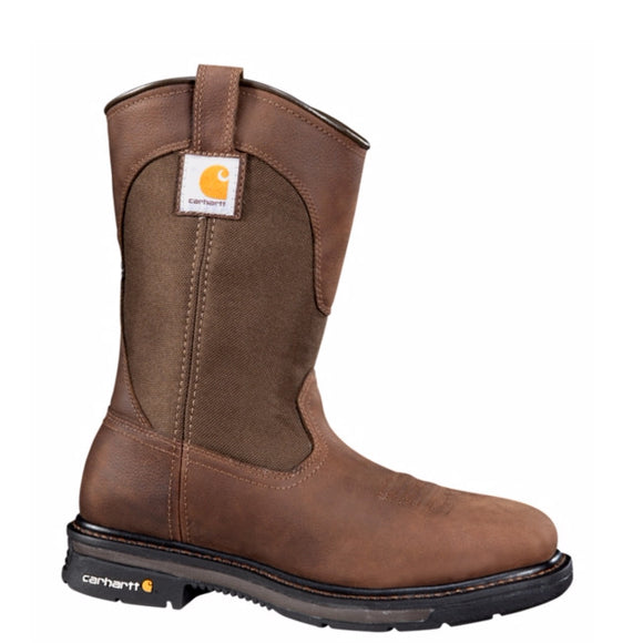 "Carhartt Men's 11"" Non-Safety Square Toe Wellington - Dark Bison Brown CMP1108 - ShoeShackOnline"