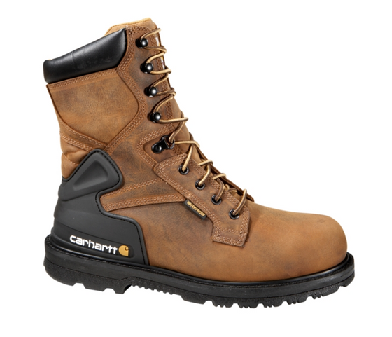 "Carhartt Men's 8"" Bison Safety Toe Work Boot - CMW8200 - ShoeShackOnline"