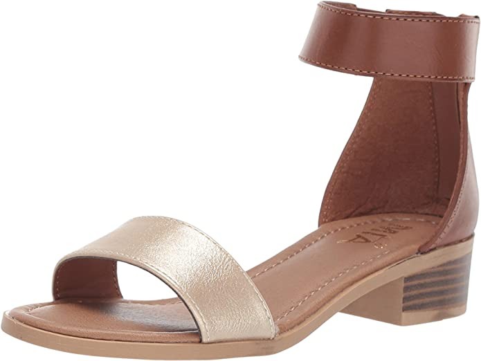 MIA Kid's Paigee Heeled Sandal - Cognac/Rose Gold CSK353