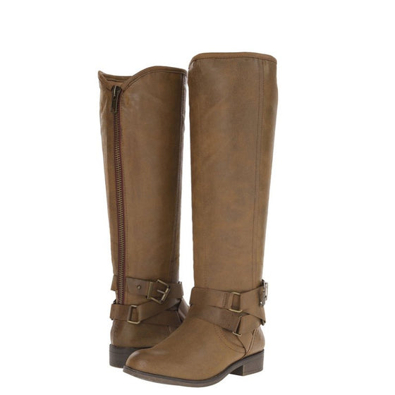 Madden Girl Women's Corporel Riding Boot - Cognac