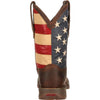 Durango Men's Rebel Patriotic Pull-On Western Flag Boot - Brown DB5554