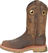 "Double H Men's 12"" Elijah Wide Square Composite Toe Work Western Boot - Brown DH5241 - ShoeShackOnline"