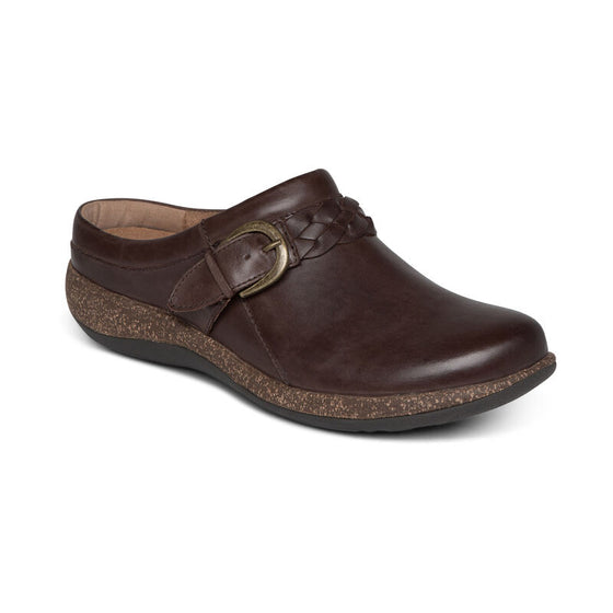 Aetrex Women's Libby Slip On Shoe - Brown DM202