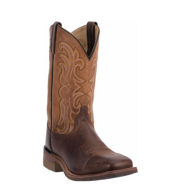"Dan Post Men's Lingbergh 11"" Western Boot - Dark Brown DP69839 - ShoeShackOnline"