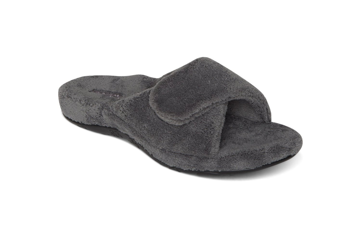 Aetrex Women's Shelby Slip On Slipper - Grey FE106W