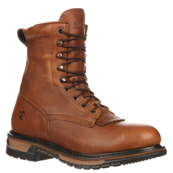 Rocky Men's Original Ride Lacer WP Western Boot - Tan Pitstop FQ0002723