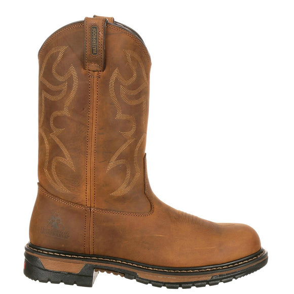 Rocky Men's Original Ride Branson Steel Toe WP Western Boots - Aztec Crazy Horse FQ0002809 - ShoeShackOnline