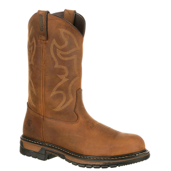 Rocky Men's Original Ride Branson Steel Toe WP Western Boots - Aztec Crazy Horse FQ0002809