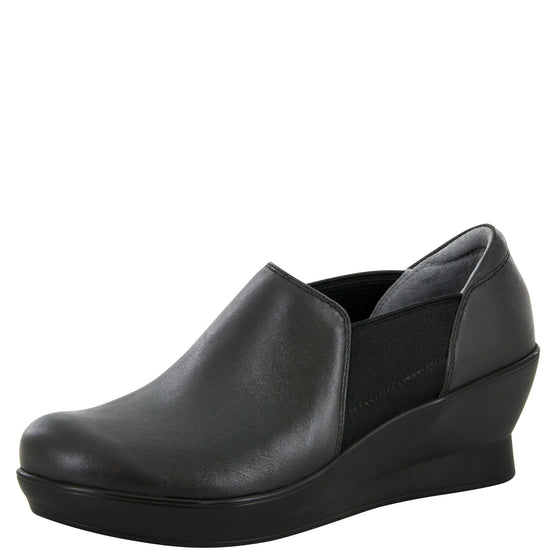 Alegria Women's Fraya Slip-On Wedge - Black FRA-601