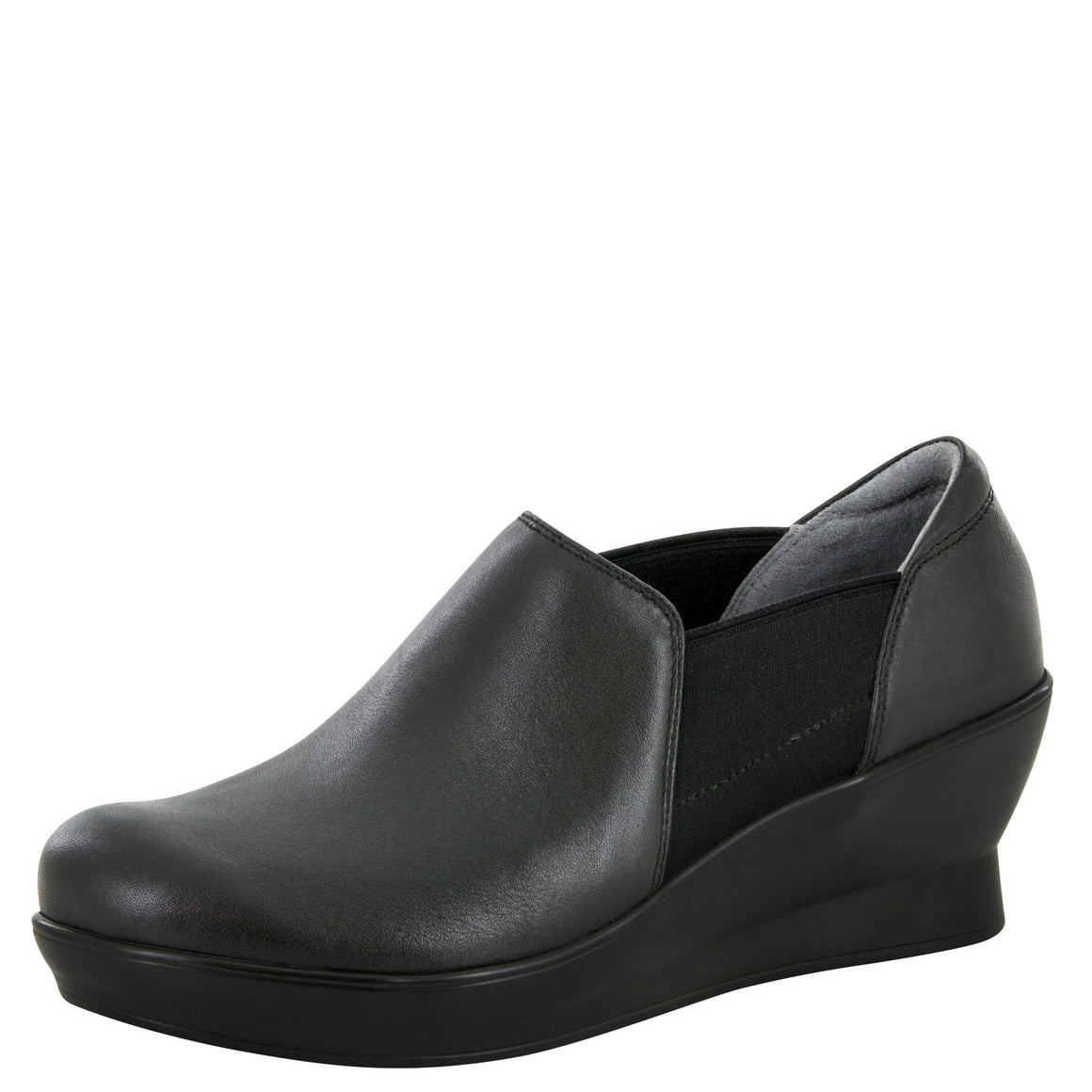 Alegria Women's Fraya Slip-On Wedge - Black FRA-601 - ShoeShackOnline