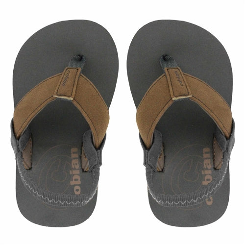 Cobian Toddler's Floatie Flip Flop - Tan FTE19-230 - ShoeShackOnline