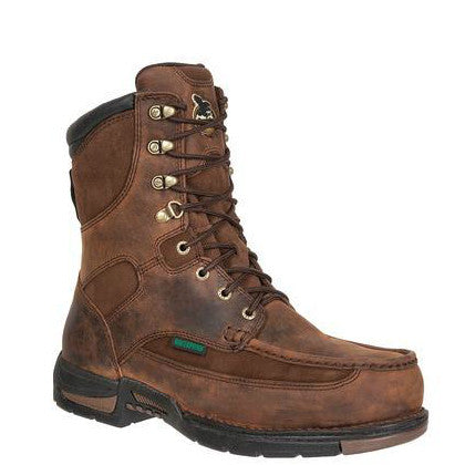"Georgia Men's 8"" Athens WP Work Boots - Brown G9453 - ShoeShackOnline"
