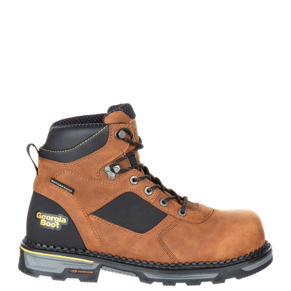 Georgia Men's Hammer HD Composite Toe Waterproof Work Boot - Trail Crazy Horse GB00131