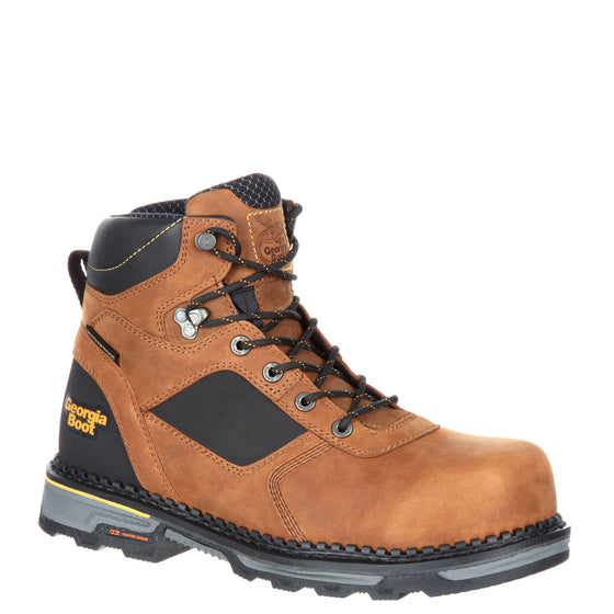 "Georgia Men's 6"" Hammer HD Composite Toe Waterproof Work Boot - Trail Crazy Horse GB00131 - ShoeShackOnline"