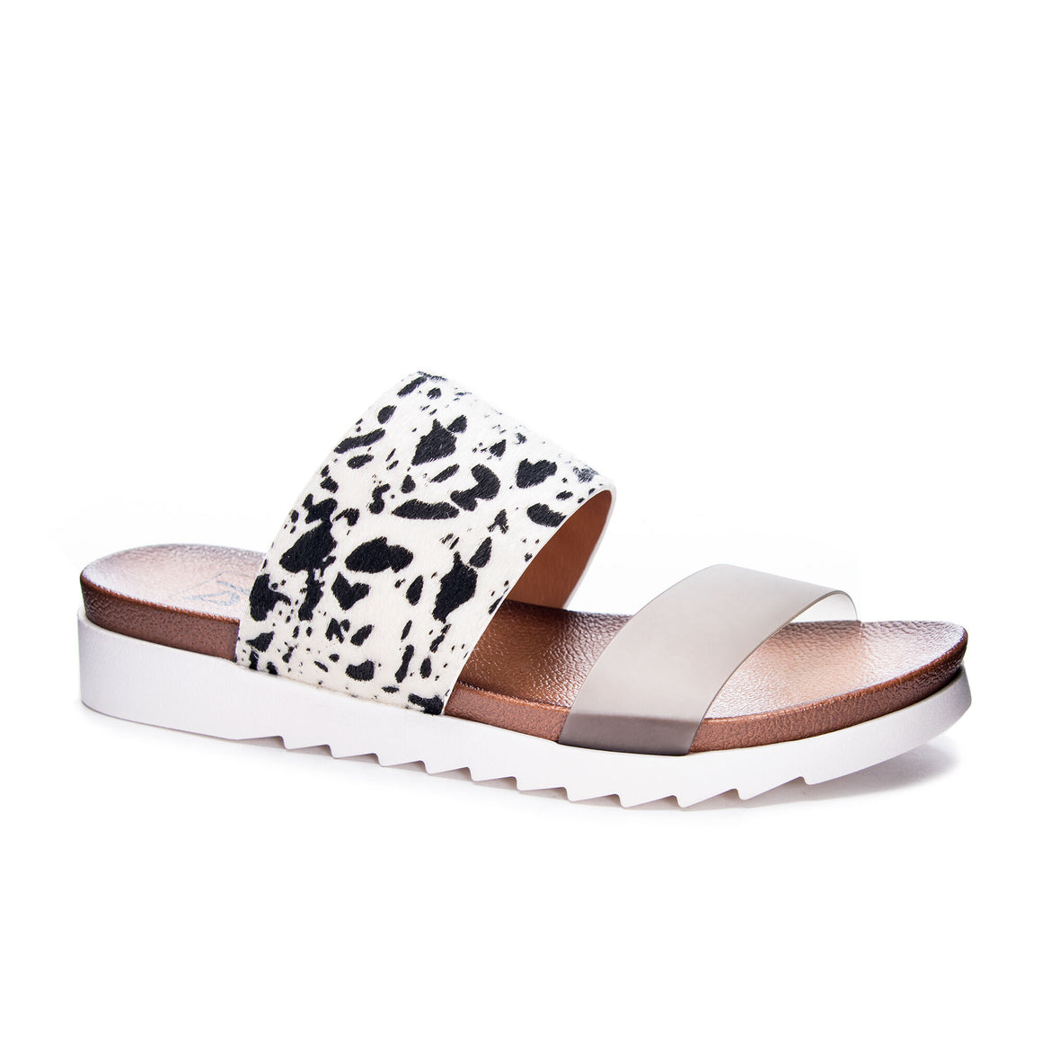 Dirty Laundry Women's Coastline Pony Sandal - Black/White