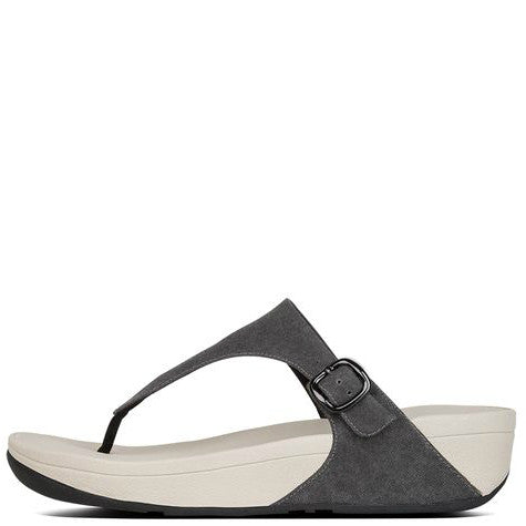 027f22799 ... FitFlop Women s The Skinny Canvas Toe-Thong Sandals - Black H12-001